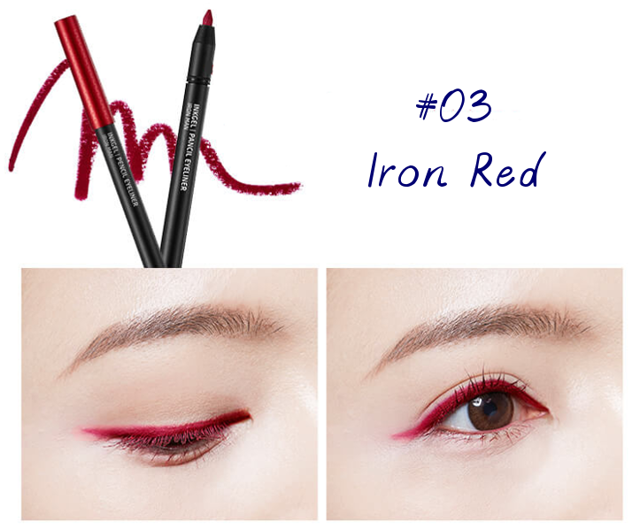 The Face Shop Marvel Edition Inkgel Pencil Eyeliner 03 Iron Red