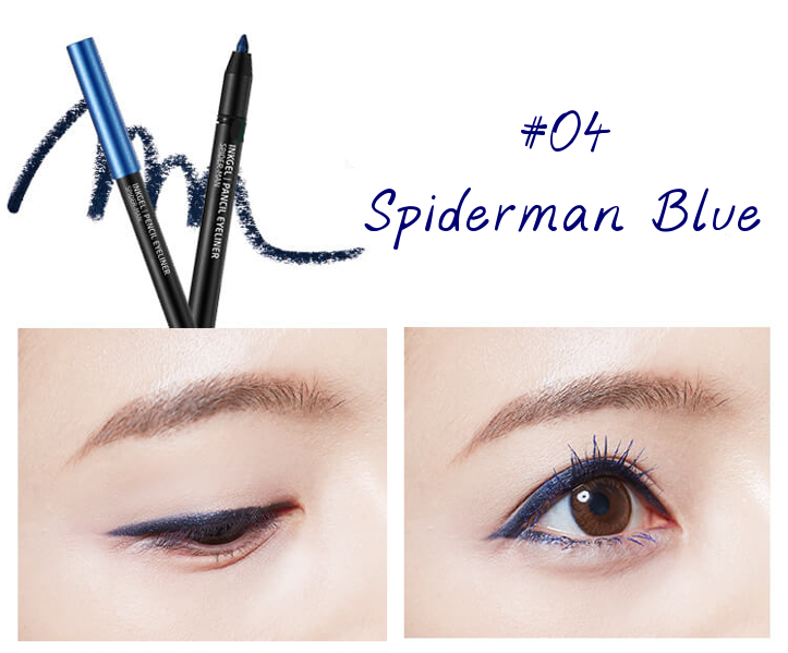 The Face Shop Marvel Edition Inkgel Pencil Eyeliner 04 Spiderman Blue