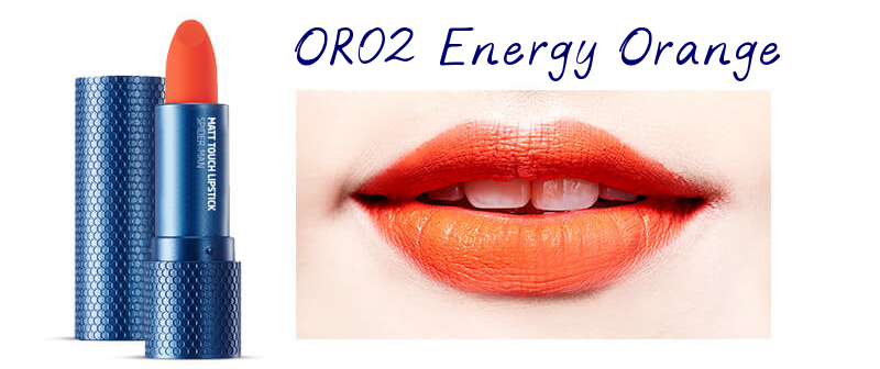 The Face Shop Marvel Edition Matt Touch Lipstick OR02 Energy Orange