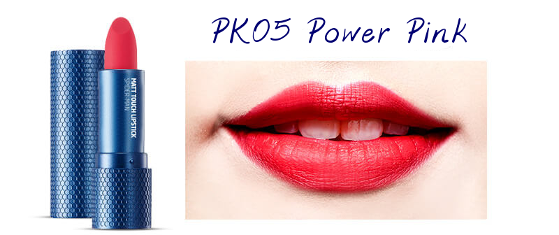 The Face Shop Marvel Edition Matt Touch Lipstick PK05 Power Pink