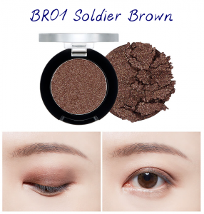 The Face Shop Marvel Edition Single Shadow Jelly BR01 Soldier Brown