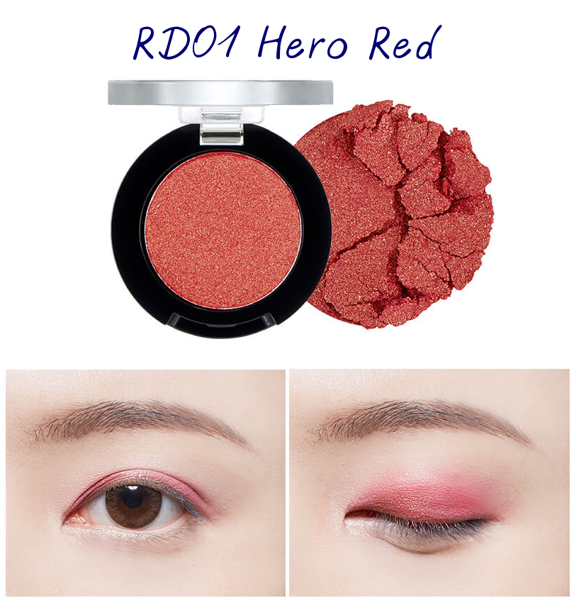 The Face Shop Marvel Edition Single Shadow Jelly RD01 Hero Red