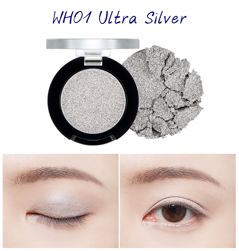 The Face Shop Marvel Edition Single Shadow Jelly WH01 Ultra Silver