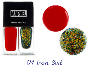 The Face Shop Marvel Edition Trendy Nails Duo 01 Iron Suit