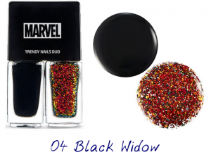 The Face Shop Marvel Edition Trendy Nails Duo 04 Black Widow