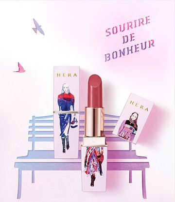HERA x Garance Wilkens Fall Winter Collection Souvenir De Paris Rouge Holic (Cream Texture)
