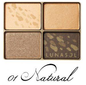 LUNASOL 2017 Autumn Makeup Collection Shine Fall Eyes 01 Natural