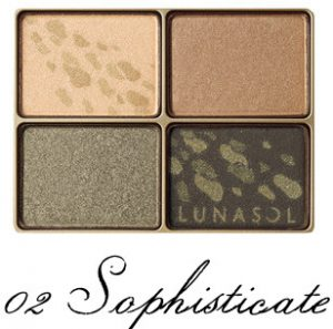 LUNASOL 2017 Autumn Makeup Collection Shine Fall Eyes 02 Sophisticate