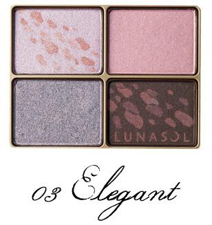 LUNASOL 2017 Autumn Makeup Collection Shine Fall Eyes 03 Elegant