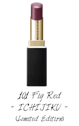 SUQQU 2017 Autumn Winter Collection Moisture Rich Lipstick 101 Fig Red ICHIJIKU (Limited Edition)