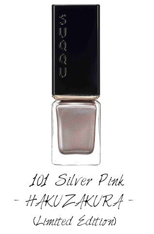 SUQQU 2017 Autumn Winter Collection Nail Polish Color 101 Silver Pink HAKUZAKURA (Limited Edition)