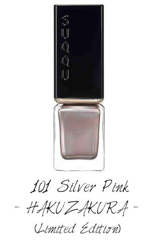 SUQQU 2017 Autumn Winter Collection Nail Polish Color 101 Silver Pink HAKUZAKURA (Limited Edition)