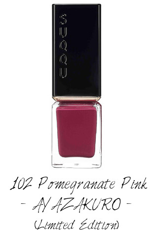SUQQU 2017 Autumn Winter Collection Nail Polish Color 102 Pomegranate Pink AYAZAKURO (Limited Edition)