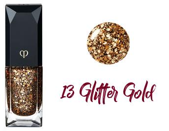 Clé de Peau Beauté 2017 Holiday Collection Nuit de Chine vernis à ongles trio 13 Glitter Gold