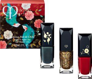 Clé de Peau Beauté 2017 Holiday Collection Nuit de Chine vernis à ongles trio
