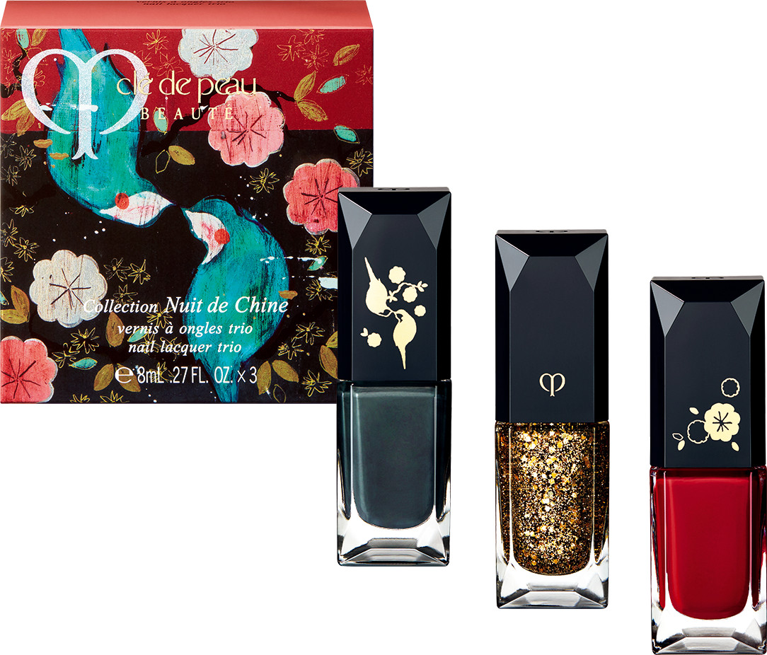 Clé de Peau Beauté 2017 Holiday Collection Nuit de Chine vernis à ongles trio