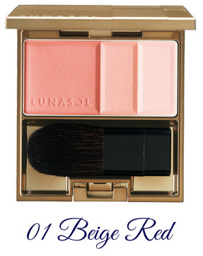LUNASOL Winter 2017 Candle Night Collection Coloring Soft Cheeks 01 Beige Red
