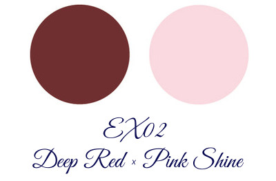 LUNASOL Winter 2017 Candle Night Collection Deep & Shine Liner EX02 Deep Red and Pink Shine