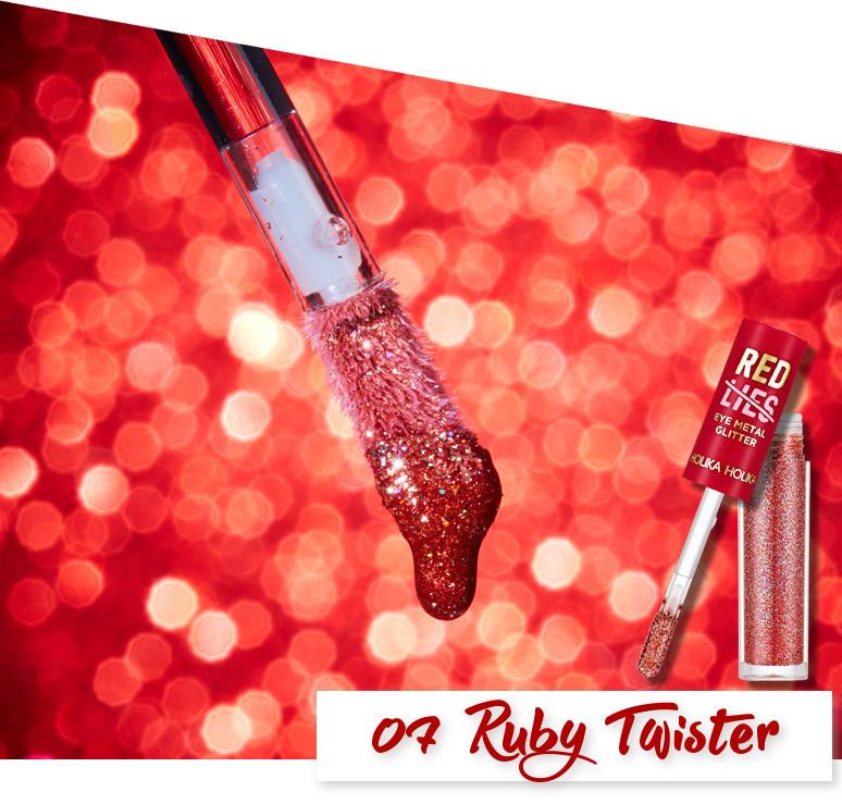 Holika Holika Red Lies Collection (Holiday Edition) Eye Metal Glitter 07 Ruby Twister
