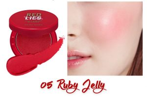 Holika Holika Red Lies Collection (Holiday Edition) Jelly Dough Blusher 05 Ruby Jelly