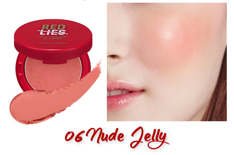 Holika Holika Red Lies Collection (Holiday Edition) Jelly Dough Blusher 06 Nude Jelly