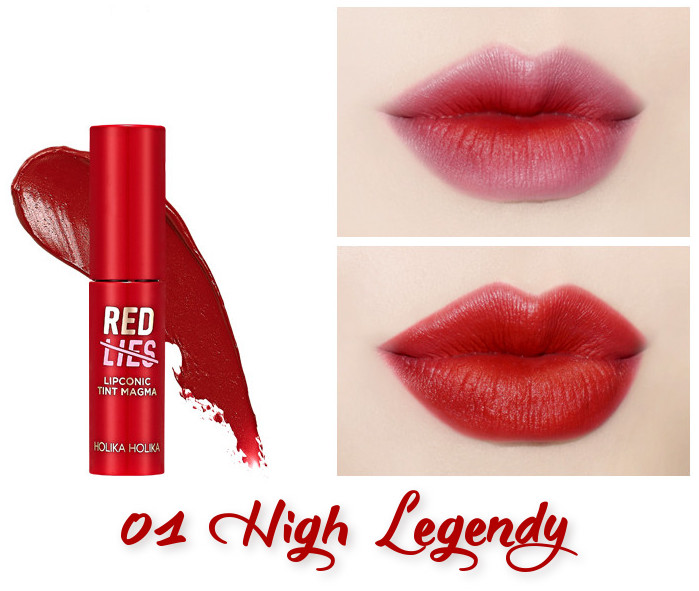 Holika Holika Red Lies Collection (Holiday Edition) Lipconic Tint Magma 01 High Legendy