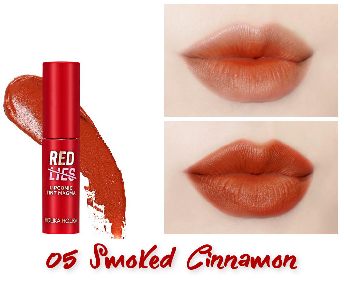 Holika Holika Red Lies Collection (Holiday Edition) Lipconic Tint Magma 05 Smoked Cinnamon
