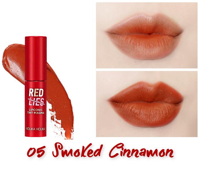 Holika Holika Red Lies Collection (Holiday Edition) Lipconic Tint Magma 05 Smoked Cinnamon