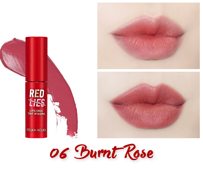Holika Holika Red Lies Collection (Holiday Edition) Lipconic Tint Magma 06 Burnt Rose