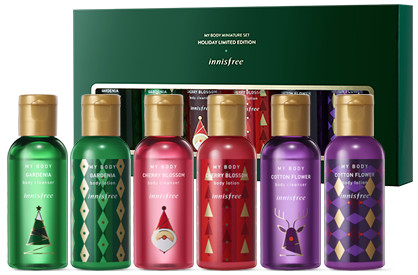 Innisfree 2017 Green Christmas My Body Miniature Set