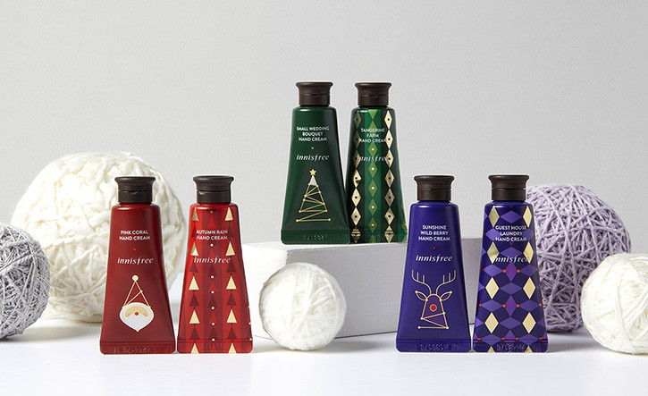 Innisfree 2017 Green Christmas Perfumed Hand Cream Miniature Set