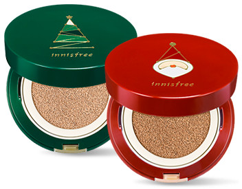 Innisfree 2017 Green Christmas Reset Cushio Set