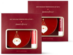 Innisfree 2017 Green Christmas Winter Kiss Lip Set