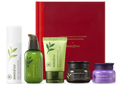 Innisfree 2017 Green Christmas Winter Skin Care Puzzle Collection