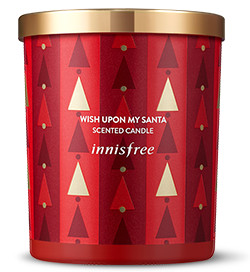 Innisfree 2017 Green Christmas Wish Upon My Santa Scented Candle