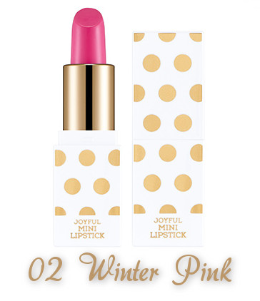 The Face Shop 2017 Holiday Edition All the wishes Joyful Mini Lipstick Kit 02 Winter Pink