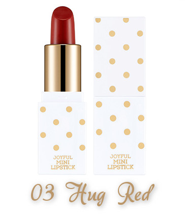 The Face Shop 2017 Holiday Edition All the wishes Joyful Mini Lipstick Kit 03 Hug Red