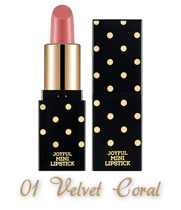 The Face Shop 2017 Holiday Edition All the wishes Miracle Supreme Lipstick 01 Velvet Coral