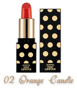 The Face Shop 2017 Holiday Edition All the wishes Miracle Supreme Lipstick 02 Orange Candle