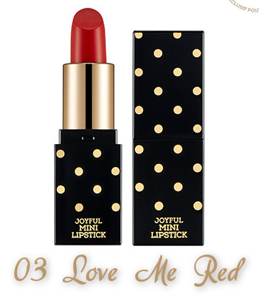 The Face Shop 2017 Holiday Edition All the wishes Miracle Supreme Lipstick 03 Love Me Red
