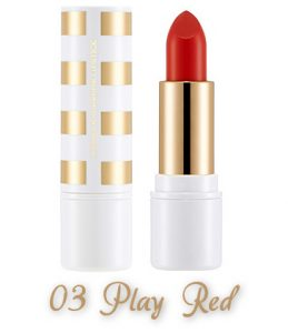The Face Shop 2017 Holiday Edition All the wishes Miracle Supreme Lipstick 03 Play Red
