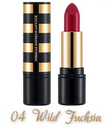 The Face Shop 2017 Holiday Edition All the wishes Miracle Supreme Lipstick 04 Wild Fuchsia