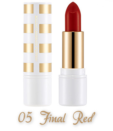 The Face Shop 2017 Holiday Edition All the wishes Miracle Supreme Lipstick 05 Final Red