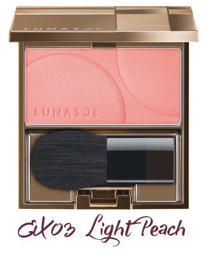 LUNASOL 2018 Spring Makeup Colletion Coloring Sheer Cheeks EX03 Light Peach