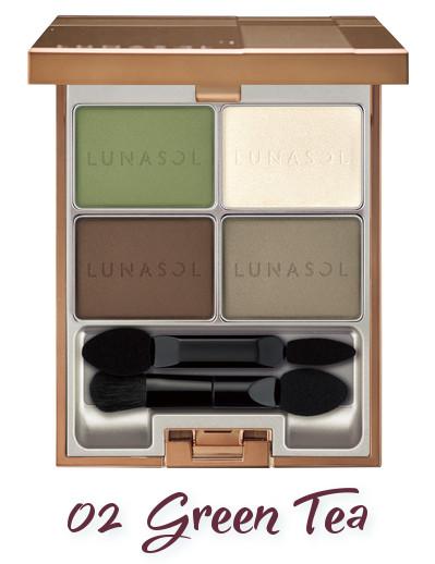 LUNASOL 2018 Spring Makeup Colletion Macaron Glow Eyes 02 Green Tea