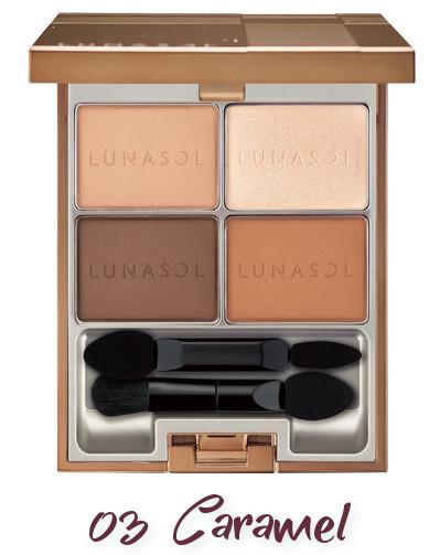 LUNASOL 2018 Spring Makeup Colletion Macaron Glow Eyes 03 Caramel