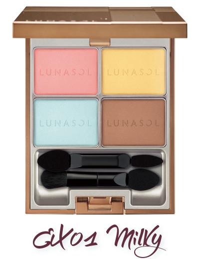LUNASOL 2018 Spring Makeup Colletion Macaron Glow Eyes EX01 Milky
