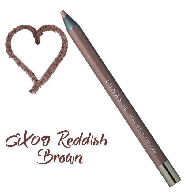 LUNASOL 2018 Spring Makeup Colletion Shiny Pencil Eyeliner EX09 Reddish Black