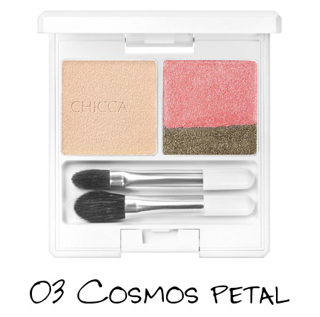 CHICCA 2018 Spring Collection FRESH Flawless Glow Lid Texture Eye Shadow 03 Cosmos Petal