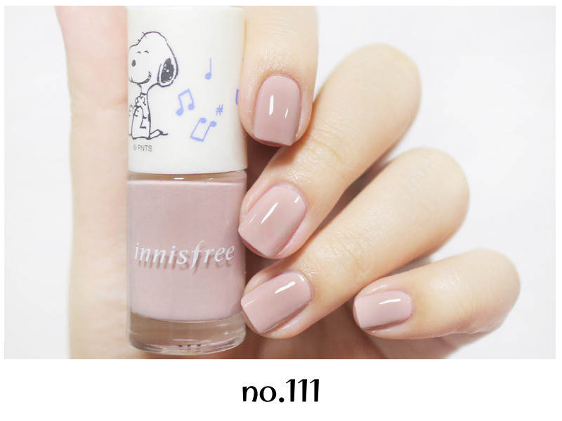 Innisfree 2018 Happy Snoopy Collection Real Color Nail no.111